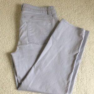 Talbots Boyfriend  periwinkle-ankle jeans Sz 12